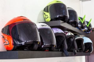 Selection of helmets